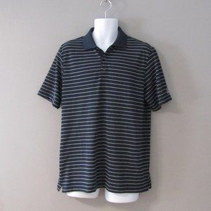 Chaps Golf Stay-Dry Blue & White Polo Shirt M